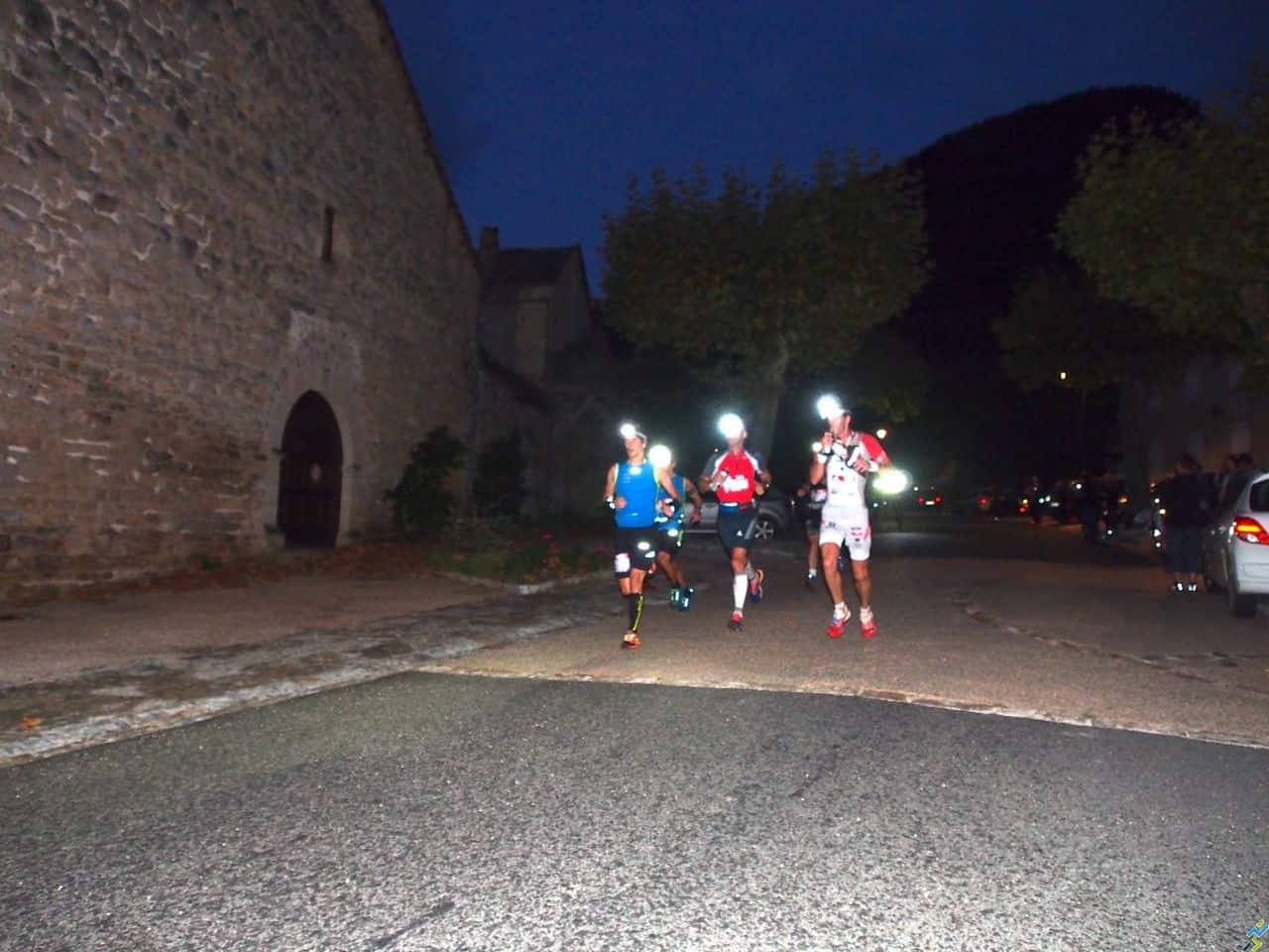 Passage de la course à Peyreleau