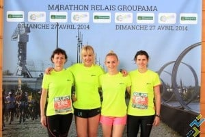 Céline marathon relais Nantes Team UR