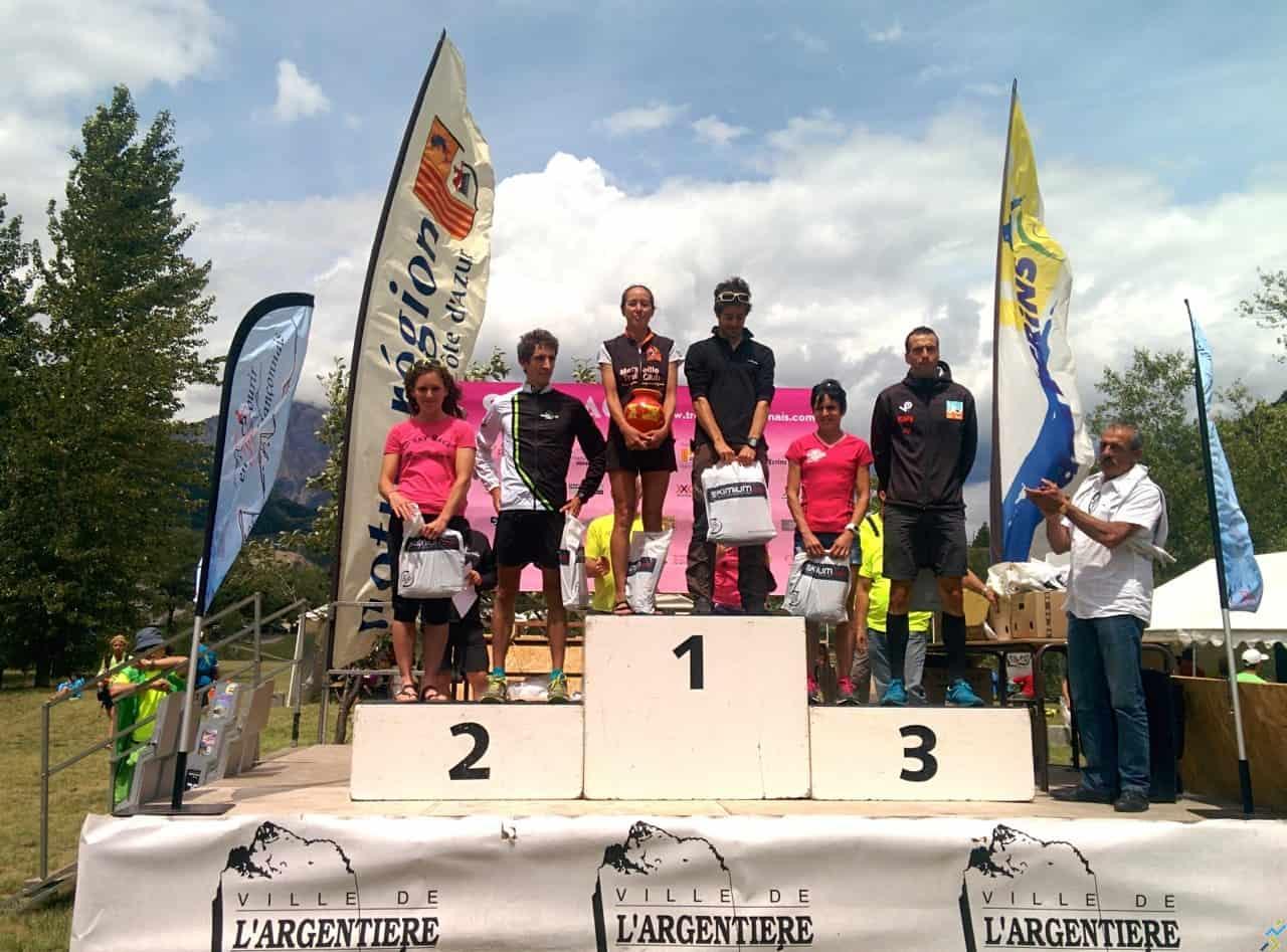 Podium 28 km Tour des Lacs