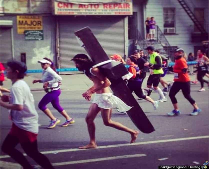 jésus runner marathon