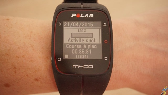 test montre GPS Polar M400 N°3