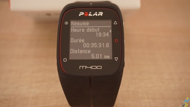 test montre GPS Polar M400 N°5