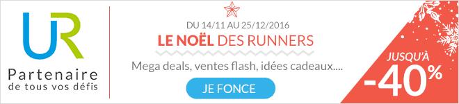 Du 14/11 au 25/11/2016 Le Noël des runners : mega deals, ventes flash, idées cadeaux... Jusqu'à -40% sur Univers Running