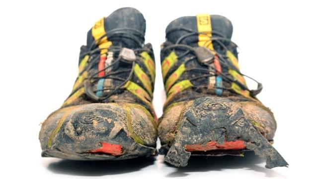 chaussures de running usagées