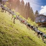 Que diriez-vous de courir sur un tremplin de saut à ski ?